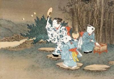 Eleven Japanese woodblock prin