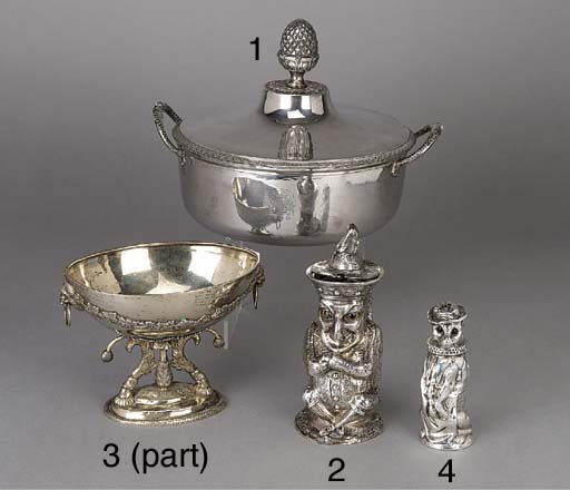 A VICTORIAN SILVER NOVELTY MUS