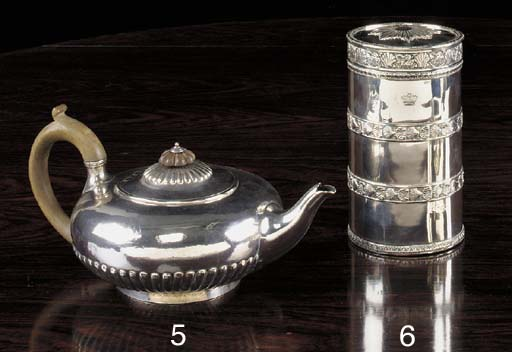 A GEORGE III SILVER CANISTER A