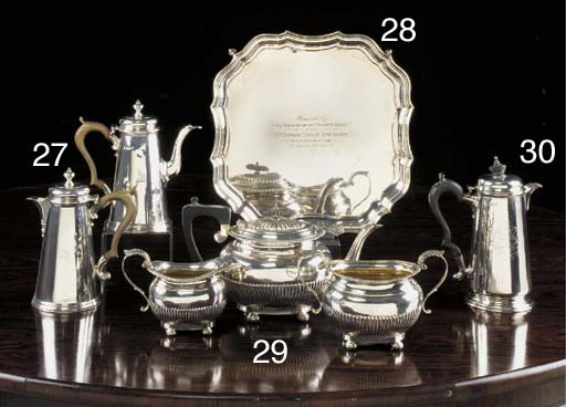 A THREE-PIECE VICTORIAN SILVER