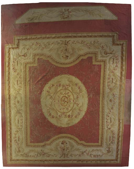 A massive fine Aubusson carpet
