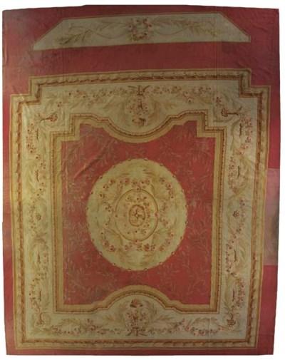 A massive fine Aubusson carpet