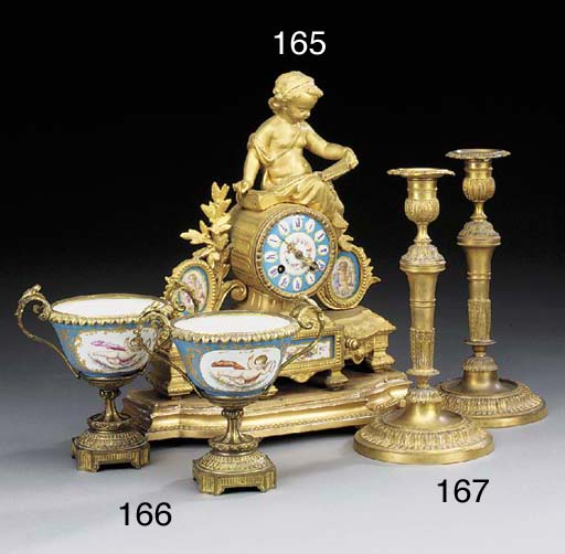 A Napoleon III gilt bronze and