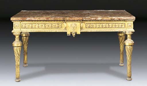 An Italian giltwood console ta