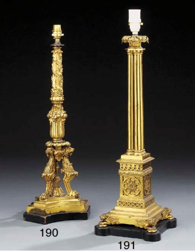 An early Victorian gilt bronze