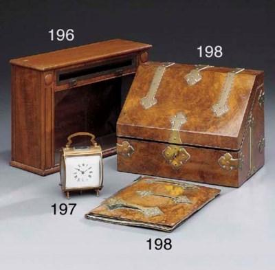 A gilt brass cased carriage ti