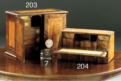 A miniature walnut bureau