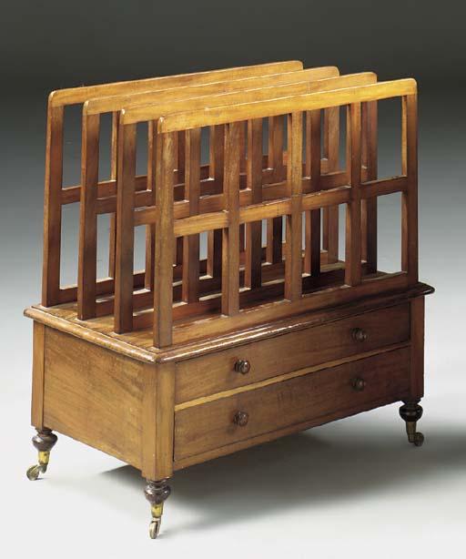 A Victorian mahogany folio sta