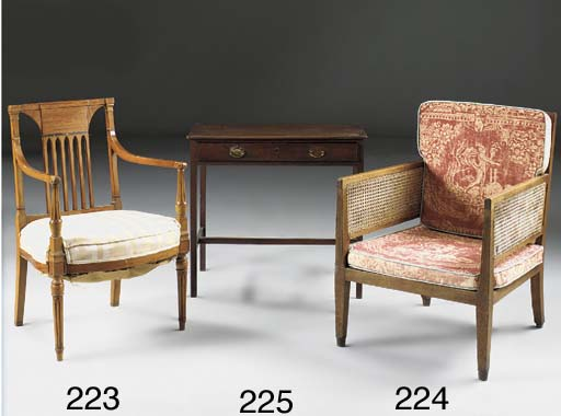 A pair of satinwood and beechw