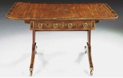 An Irish Regency mahogany and