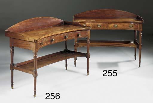 A Regency mahogany, crossbande