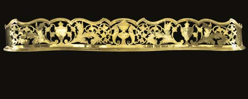A George III brass fender