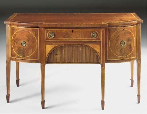 A late George III mahogany, li