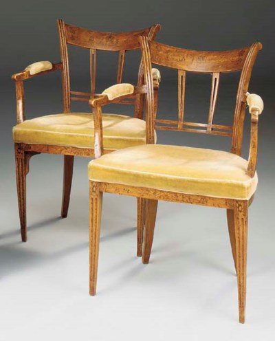 A PAIR OF DUTCH ELM AND MARQUE