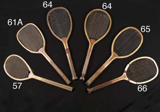A real tennis racket, manufact
