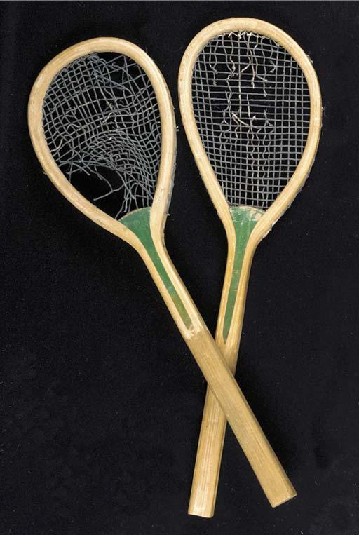 A G. Wilson real tennis racket
