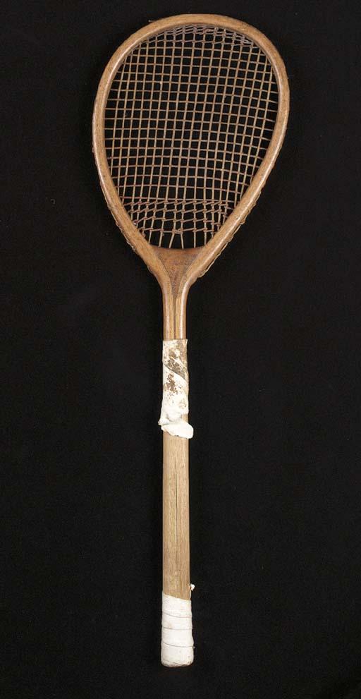 A tilt-head racket, ca. 1875,