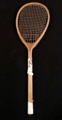 A tilt-head racket, ca. 1875,