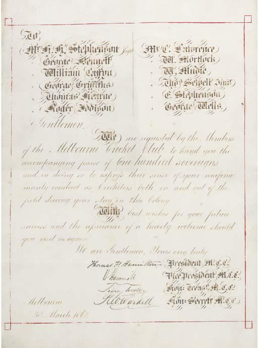 FIRST TOUR OF AUSTRALIA, 1861-