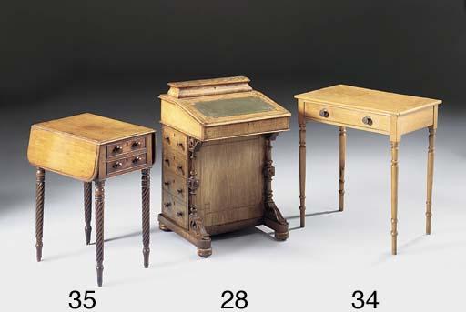 A MAHOGANY PEMBROKE WORK TABLE