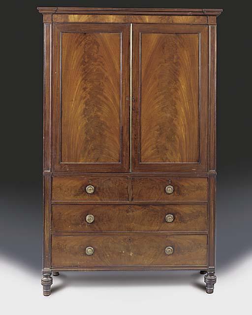 A late Regency mahogany linen