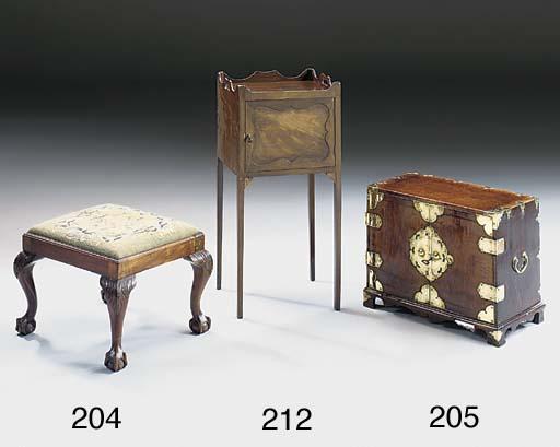 A mahogany stool, early 20th c