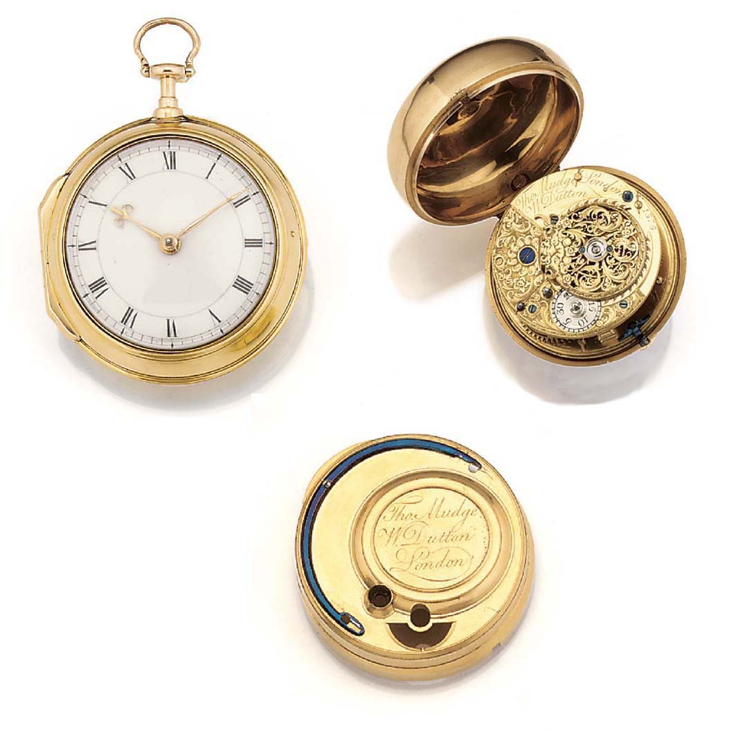 A GOLD PAIR CASED POCKET WATCH