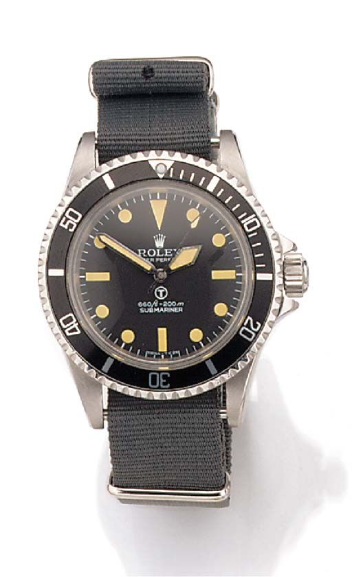 ROLEX, A MILITARY STAINLESS ST