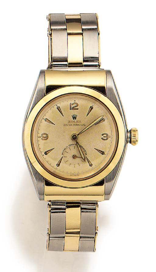 ROLEX, A RARE STAINLESS STEEL