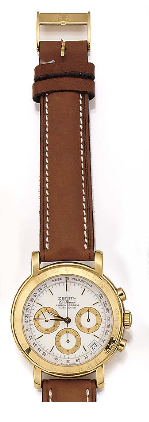 ZENITH, A GOLD PLATED AUTOMATI