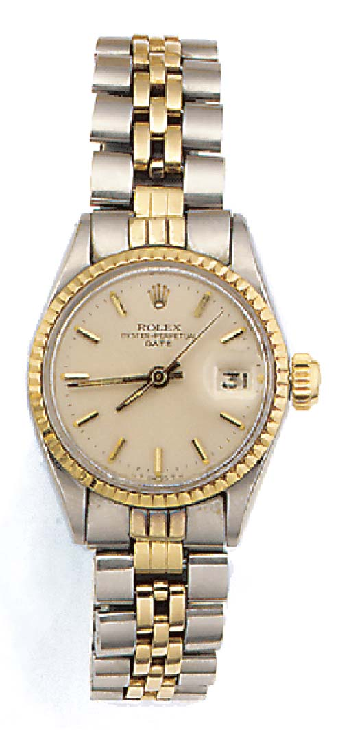 ROLEX, A LADY'S STEEL AND GOLD