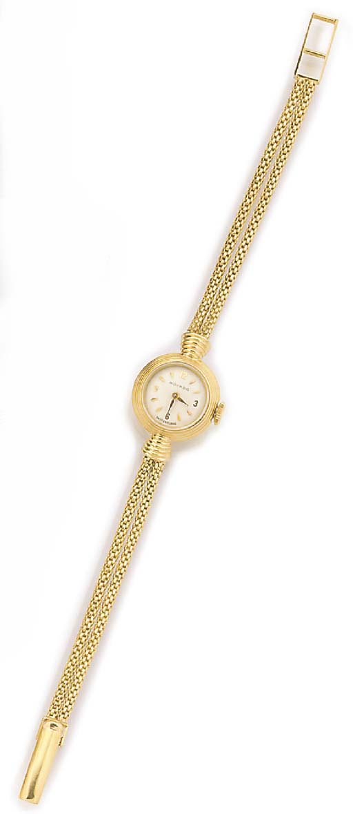 MOVADO, A LADY'S 18ct. GOLD WR
