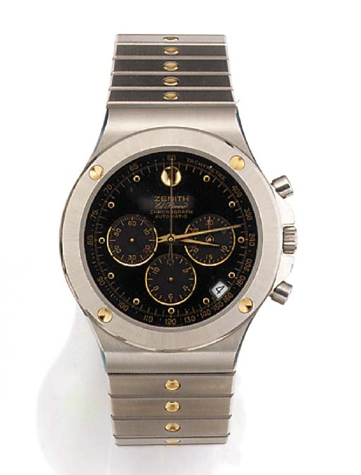 ZENITH, A STAINLESS STEEL AUTO