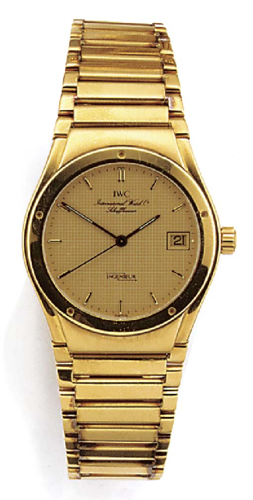 IWC, AN 18ct. GOLD QUARTZ WRIS