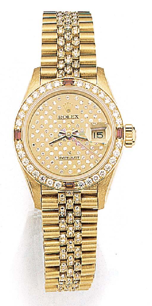 ROLEX, A LADY'S 18ct. GOLD, DI