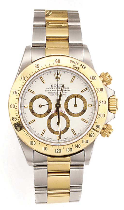 ROLEX, A GOLD AND STAINLESS ST