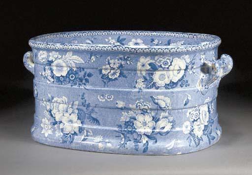 A Staffordshrie blue and white