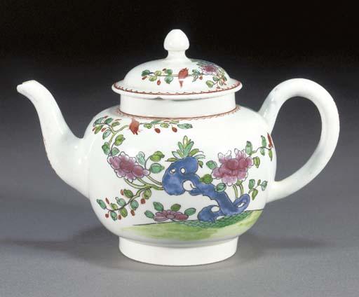 A Liverpool globular teapot an