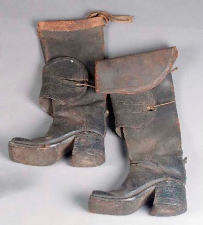 A pair of postillion boots, of