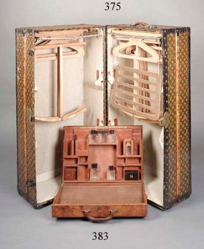 A Louis Vuitton wardrobe trunk