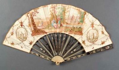 A Dutch fan mounted à l'Anglai