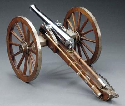 A model field gun,