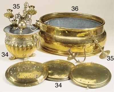 An English brass wine cooler o