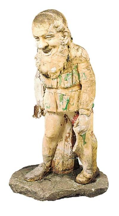 A terracotta figure of a gnome
