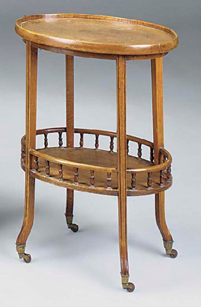 AN OAK TWO TIER OVAL OCCASIONA