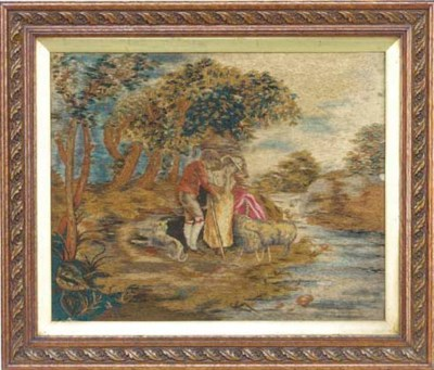 A Regency woolwork picture of
