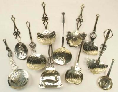 A Flemish brass chamber stick,