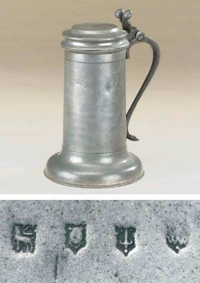 A Charles II pewter 'Beefeater