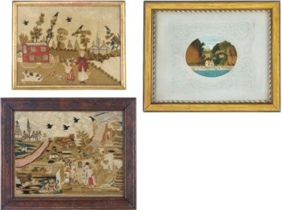Two samplers, 19th century