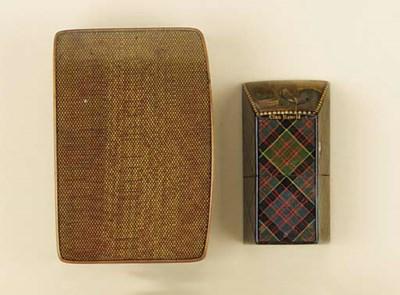 A Mauchline ware snuff box, se